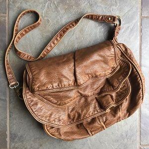 Echo Bags - Tan Leather Crossbody Purse